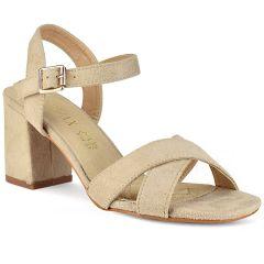 Beige suede heel sandal Sonnax 26838