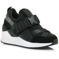 Δερμάτινο μαύρο sneaker SIXTYSEVEN 30209
