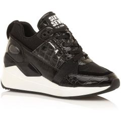 Black leather sneaker SIXTYSEVEN 30215