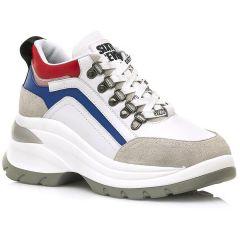 Δερμάτινο λευκό sneaker SIXTYSEVEN 30263