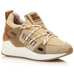 Beige leather sneaker SIXTYSEVEN 30301