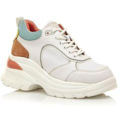 Δερμάτινο λευκό sneaker SIXTYSEVEN 30396