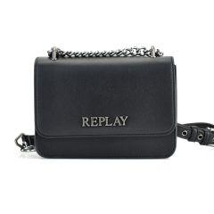 Μαύρη τσάντα χιαστή REPLAY FW3001