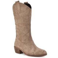 Μπεζ cowboy μπότα AMELIA MP3030