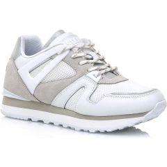 Δερμάτινο λευκό sneaker SIXTYSEVEN 30491