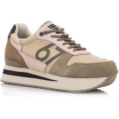 Taupe leather sneaker SIXTYSEVEN 30501
