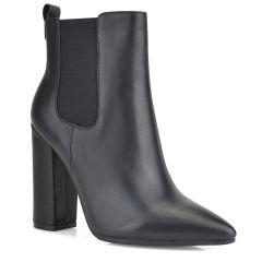 Black leather bootie JN33-19