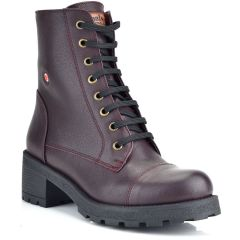 Leather bordeaux biker boot Fratelli Robinson 3455