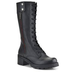 Leather black biker boot Fratelli Robinson 3458