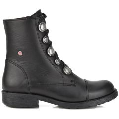 Leather black biker boot Fratelli Robinson 3522