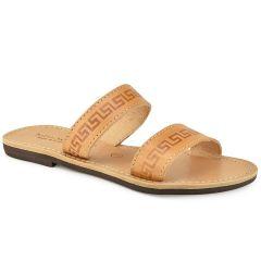 Leather natural slipper Tsakiris Sandals TS37