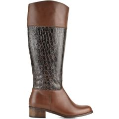 Leather brown boot Fratelli Robinson 3712