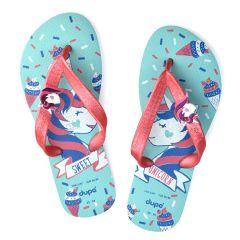Kids fushia flip flop DUPE 4144717