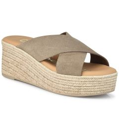 Leather taupe flatform Oh my Sandals 4603