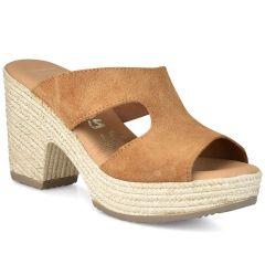 Δερμάτινο καμελ πέδιλο Oh my Sandals 4604