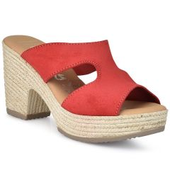 Δερμάτινο κόκκινο πέδιλο Oh my Sandals 4604