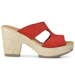 Leather red heel sandal Oh my Sandals 4604
