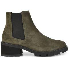 Khaki leather bootie D chicas 4621