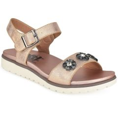 Copper sandal with fowers Xti 47953