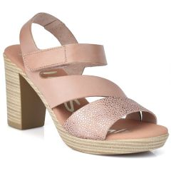 Leather nude heel sandal Oh my Sandals 4609
