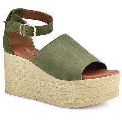 Leather khaki platform Just Prive JP505