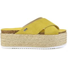 Leather yellow flatform MTNG 51092