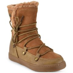 Camel kids boot with fur Xti 55276