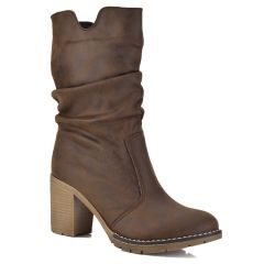 Brown bootie Just Prive 700