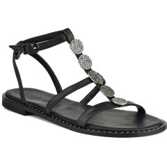 Leather black sandals Fratelli Robinson 622116