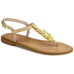 Leather nude sandals Fratelli Robinson 621509