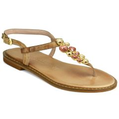 Leather nude sandals Fratelli Robinson 621522
