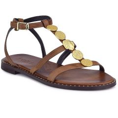 Leather brown sandals Fratelli Robinson 622116