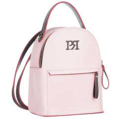White -Pink eco-leather backpack Pierro Accessories 90551