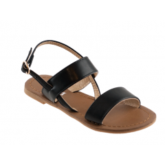 Black junior sandal by CM Paris 66-15