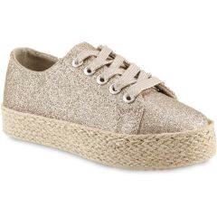 Gold metallic junior sneakers Doremi 66-2