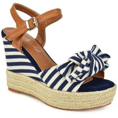 Blue stripped platform with bow 66-316