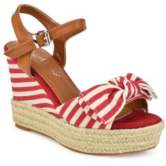 Red stripped platform with bow 66-316