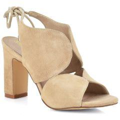 Leather nude high heel sandal Carmela 66632