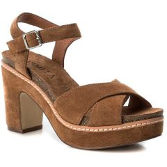 Tabac leather heel sandal Carmela 66684