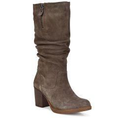 Leather taupe boot Carmela 66920