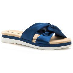Blue satin slipper MariaMare 67082