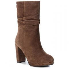 Leather tabac bootie Carmela 67084