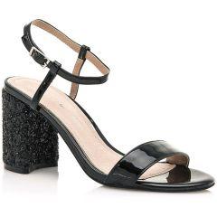 Black heel sandal MariaMare 67439
