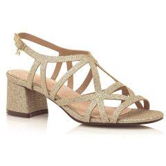 Gold block heel sandal MariaMare 67670