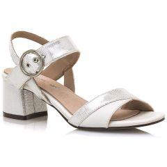 White block heel sandal MariaMare 67705