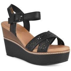 Black leather wedge Carmela 67243