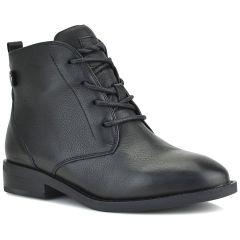 Δερμάτινο μαύρο biker boot Carmela 67623