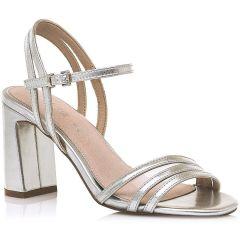 Silver high heel sandal MariaMare 67678