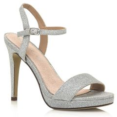 Silver high heel sandal MariaMare 67815