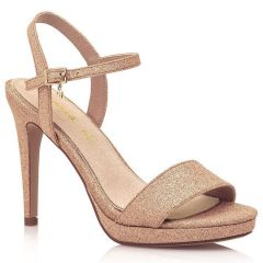 Rose gold high heel sandal MariaMare 67815